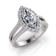 ATTENTION MARQUISE & ROUND DIAMOND HALO LOVERS