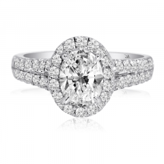 GORGEOUS OVAL DIAMOND HALO