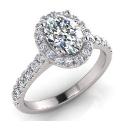 OVAL & ROUND DIAMOND HALO LOVERS FOREVER